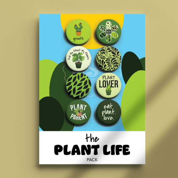 Pack of Pins. Theme of Plants.