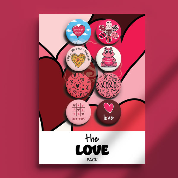 Pack of Pins. Theme of The Love Pack for Valentine's Day