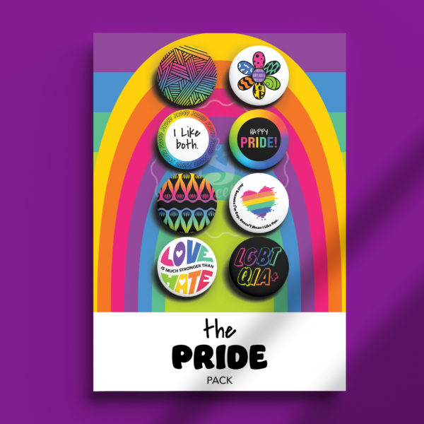 Pack of Pins. Theme of Pride. I Like Both.