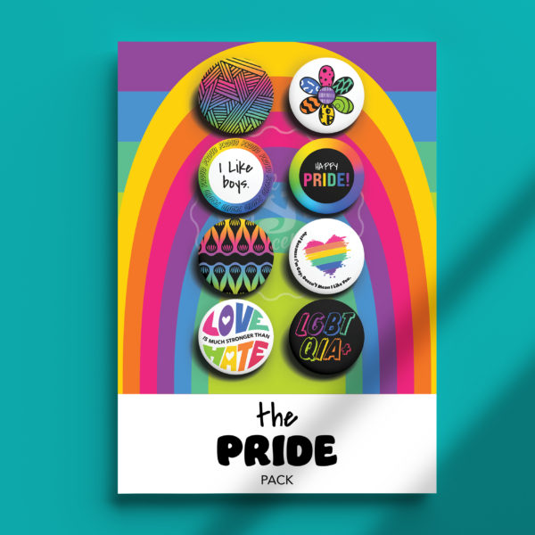 Pack of Pins. Theme of Pride. I Like Boys.