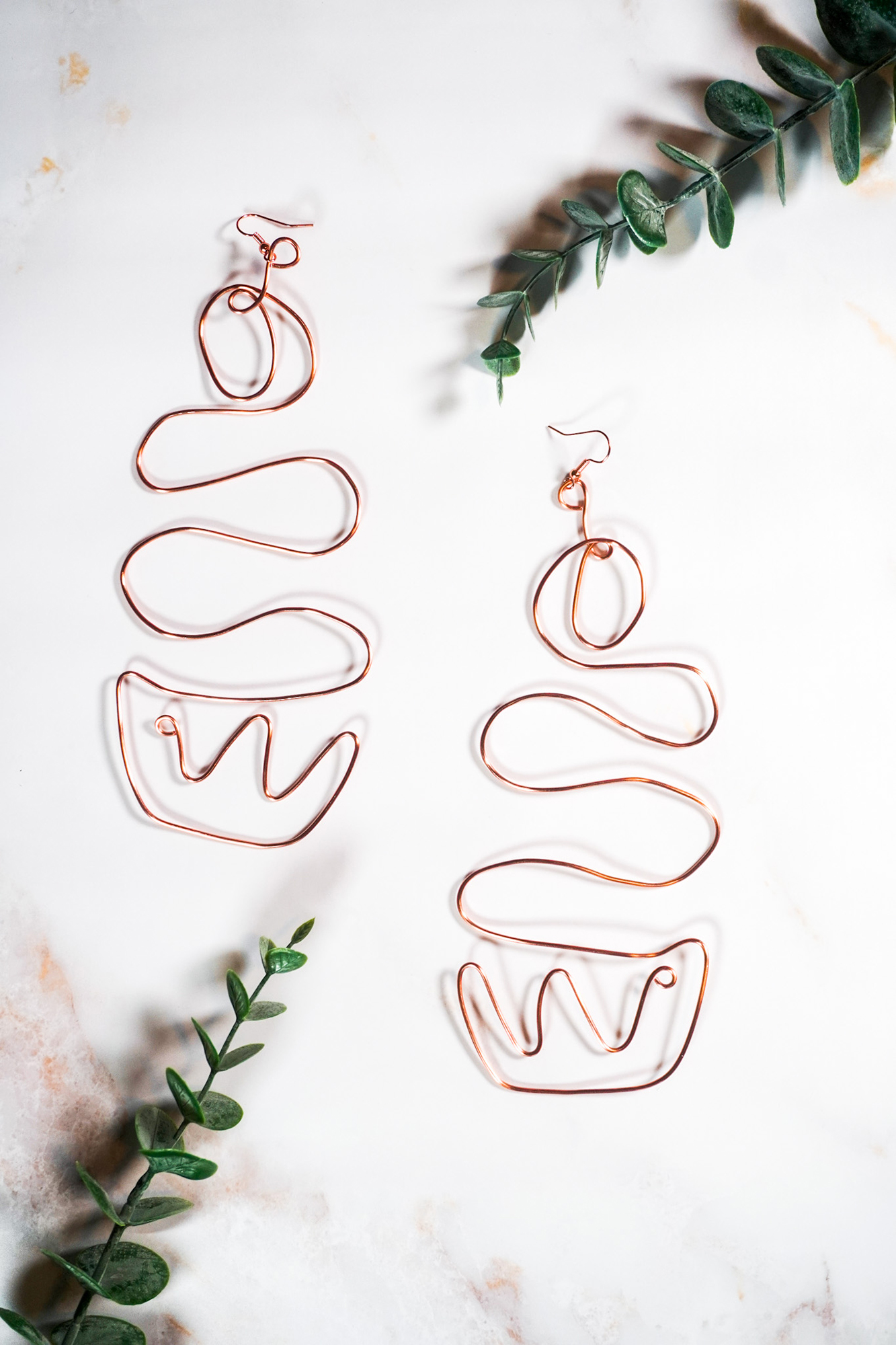 Image of handmade wire earrings